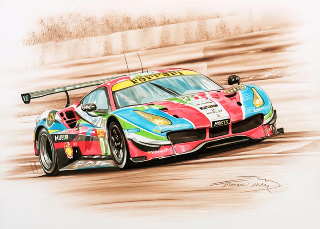 24 Heures Du Mans Le Peintre Fran Ois Bru Re Et