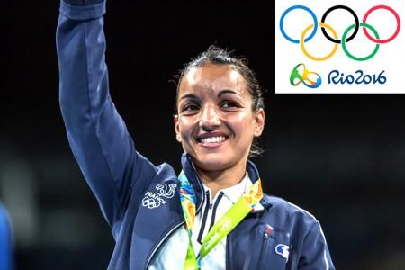 Sarah Ourahmoune aux JO de Rio - ambassadrice Fabienne Dimanov PARIS